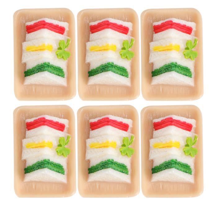 6 pièces jouets alimentaires Mini Portable Triangle gâteau matin petit déjeuner disposition Photo MULTICUISEUR ELECTRIQUE