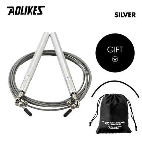 1 pièces professionnel 3 en 1 corde à sauter Crossfit vitesse corde à sauter pour Fitness saut - Modèle: 3202 Silver - HSJSTSA01365