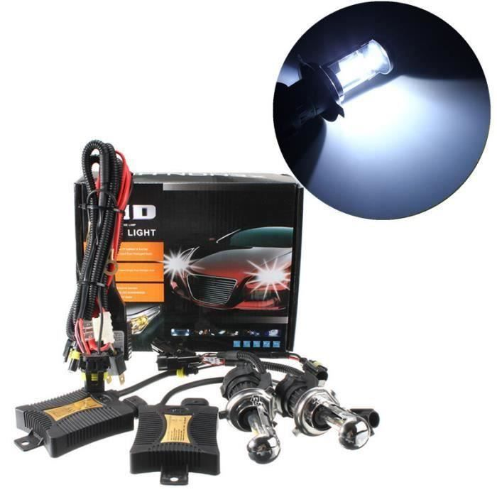 H4 55W HID Phares Ampoules Voiture Bi Xénon + Ballast DC12V 6000k At50877