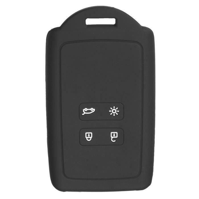 NEUFU 4-Boutons Housse de Cle Télécommande Protection Pour Renault koleos Kadjar 2016 2017 Noir L69039