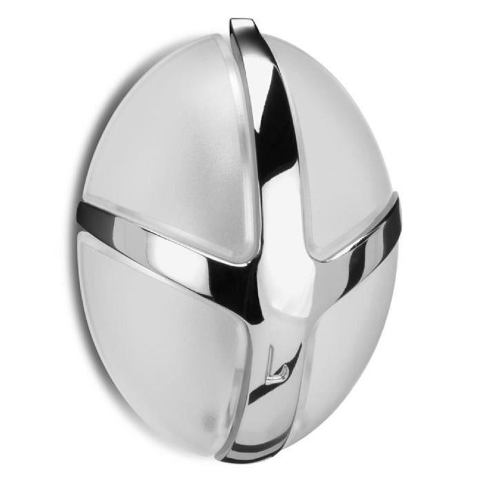 Spinder design Tick Porte-manteau avec crochet en métal - Transparente Blanc