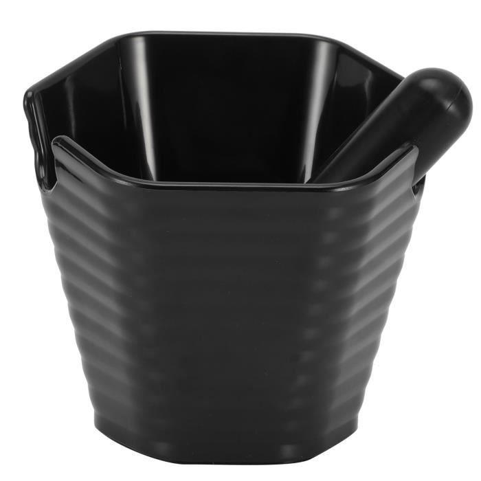 Boîte à café moulu, récipient à café, avec barre de frappe Seau à café moulu antidérapant Style hexagonal pour bar