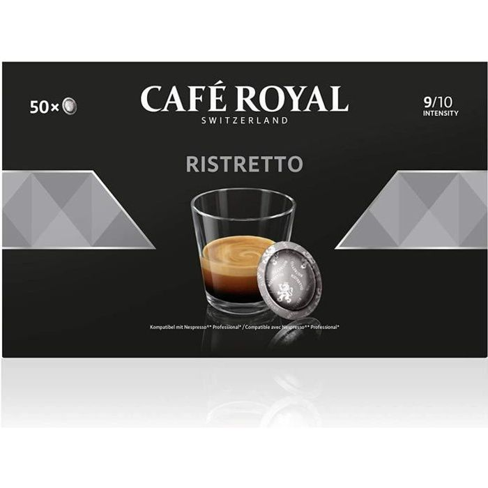 CAFE ROYAL PRO - 300 CAPSULES COMPATIBLES NESPRESSO PRO® - RISTRETTO - 6 Boites de 50 Capsules Compatibles Nespresso Pro®