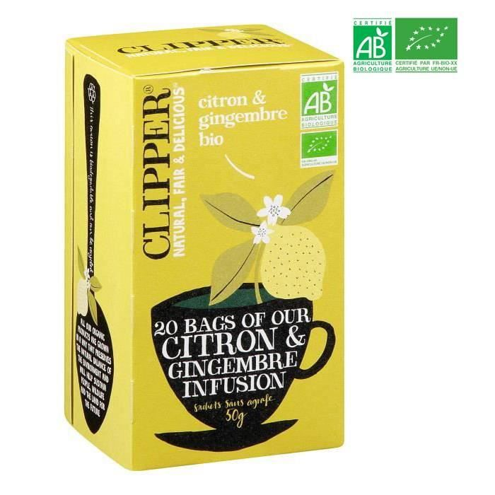CLIPPER Infusion Citron Gingembre - Bio - 50 g