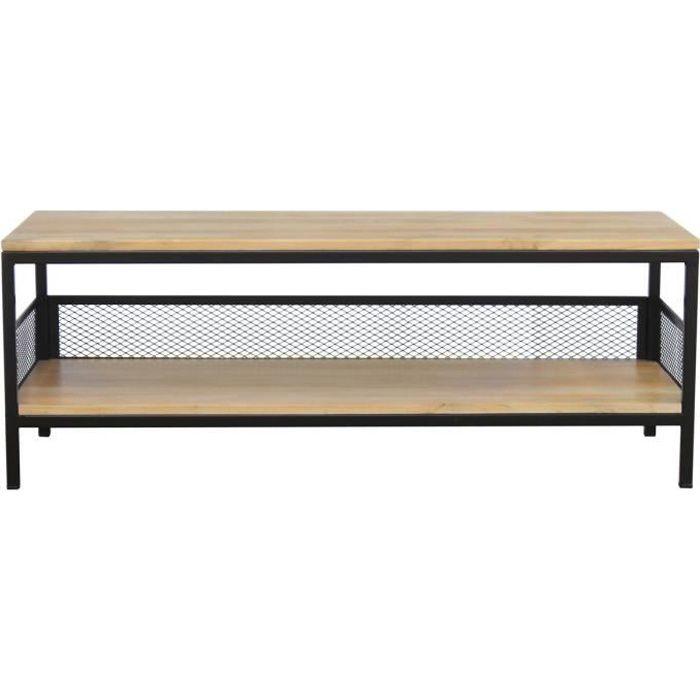 Miliboo - Table basse industrielle manguier et métal RACK
