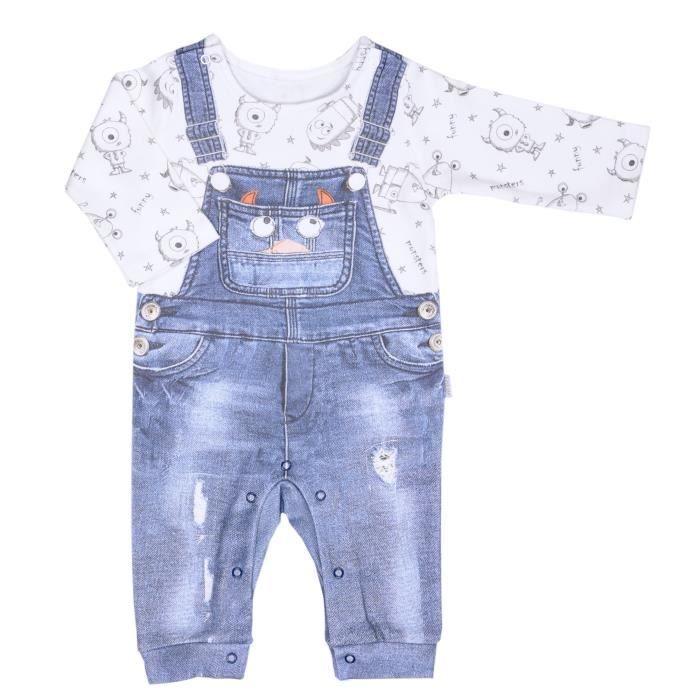 Pyjama bébé garçon en coton bio, P'TIT MONSTRE