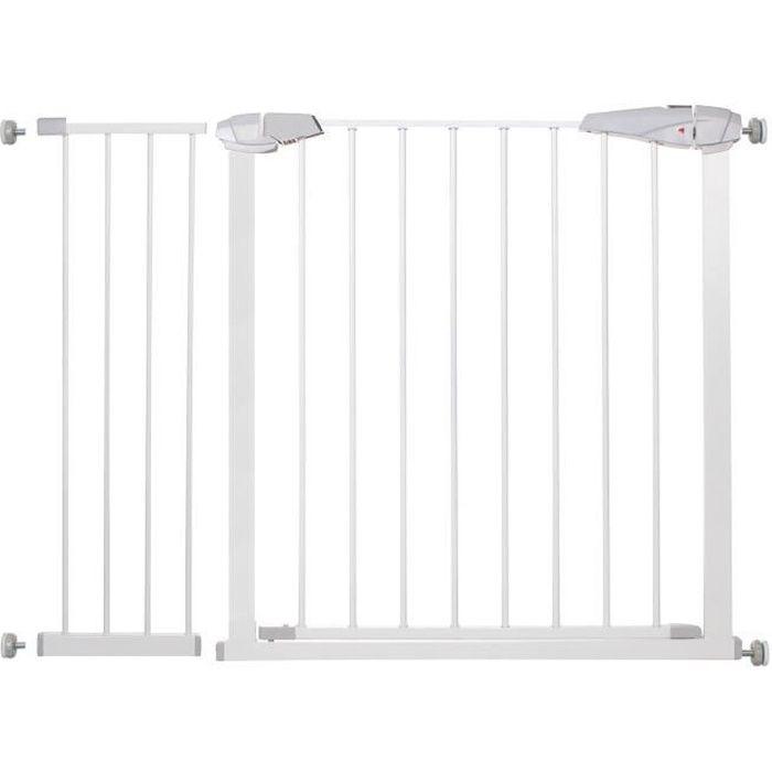 SPRINGOS® Barrière de Sécurité Bébé, Enfant pour Escaliers, Portes 76-113 cm