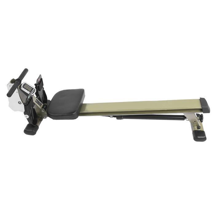 Tbest Machine à ramer Fitness Équipement d'exercice de forme physique de rameur de corps de toner de corps de rameur de sports