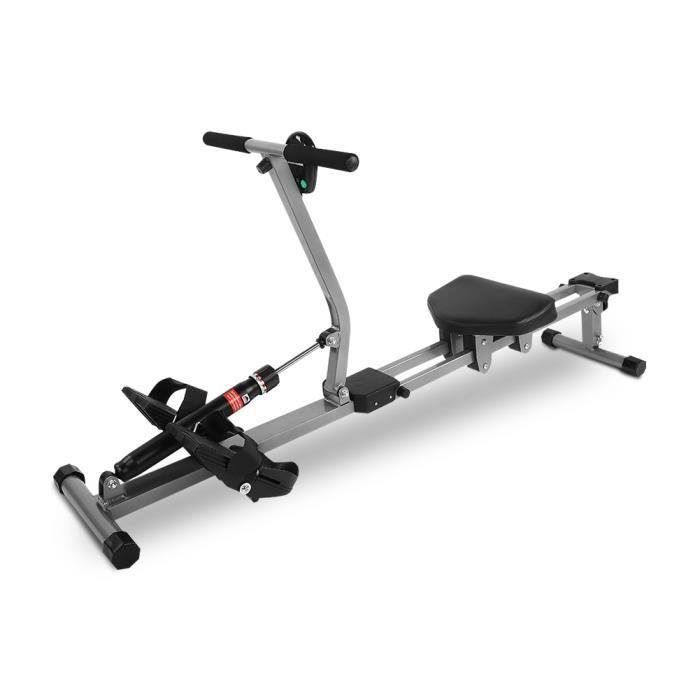 VGEBY® Machine à ramer en acier Cardio Rower Workout Body Training Accessoire de fitness à domicile -YES Vente Chaude
