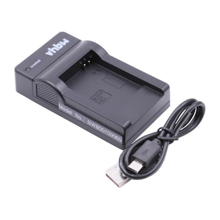 vhbw Chargeur USB de batterie compatible avec Samsung BP-70a, BP-85a, BP70a, BP85a, EA-BP70A batterie appareil photo digital, DSLR,