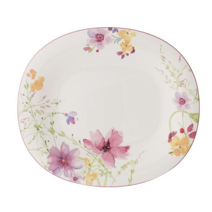 Villeroy & Boch Mariefleur Basic Assiette plate ovale Porcelaine Blanc 29 x 25 cm