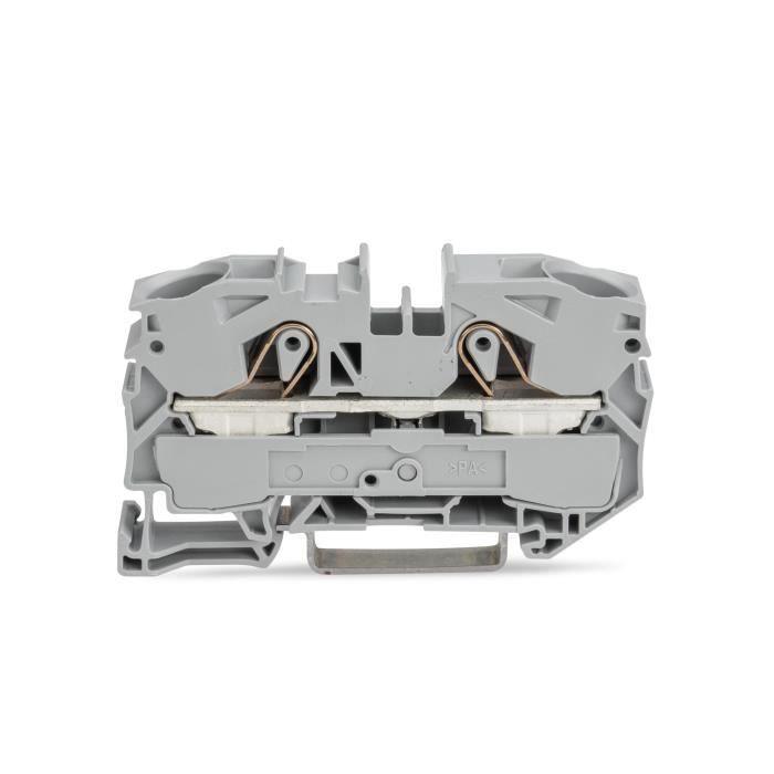 Wago 2016-1201 Bornier à montage sur rail DIN, 2 Voies - 20 AWG - 4 AWG - 25 mm² 76 A