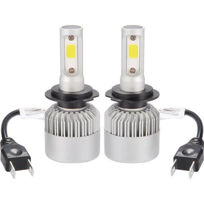 XCSOURCE Ampoule Lampe Halogène H7 8000LM 80W CREE LED Phare de voiture Ventilateur Intégré 6000K Blanc LD1033