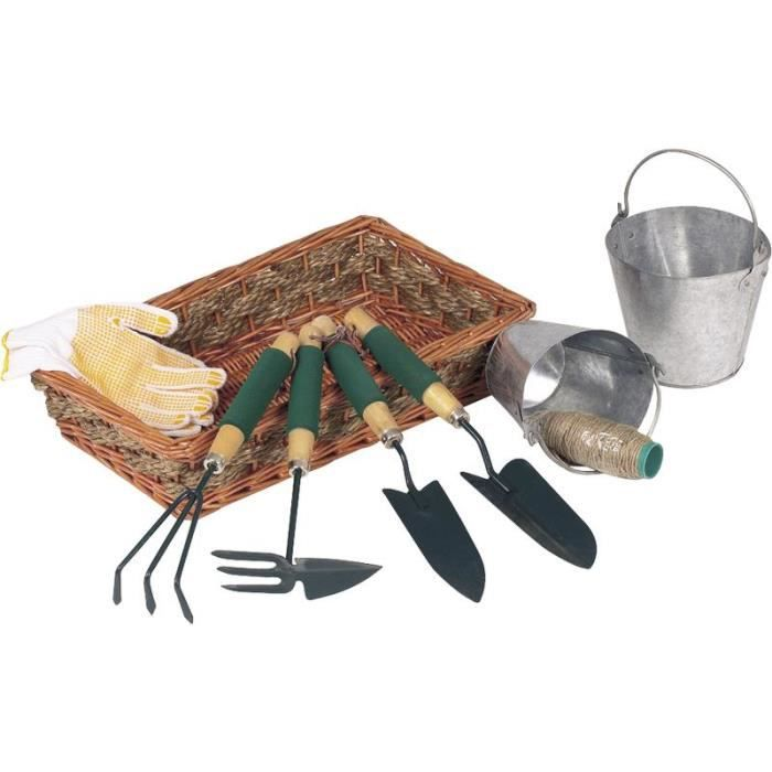Coffret outils jardinage main for Outillage a main jardinage