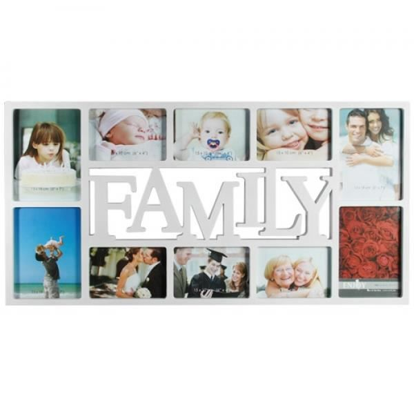 cadre pele mele photo family blanc 10 photos achat vente p le m le photo cdiscount. Black Bedroom Furniture Sets. Home Design Ideas
