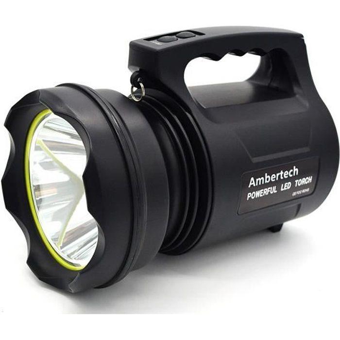 LAMPE DE POCHE Ambertech 10000 Lumens Lanterne robuste Torche LED