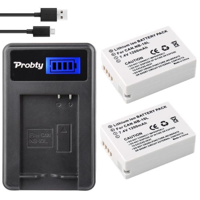 BATTERIE APPAREIL PHOTO 10L Appareil Photo batterie + LCD USB Chargeur pou