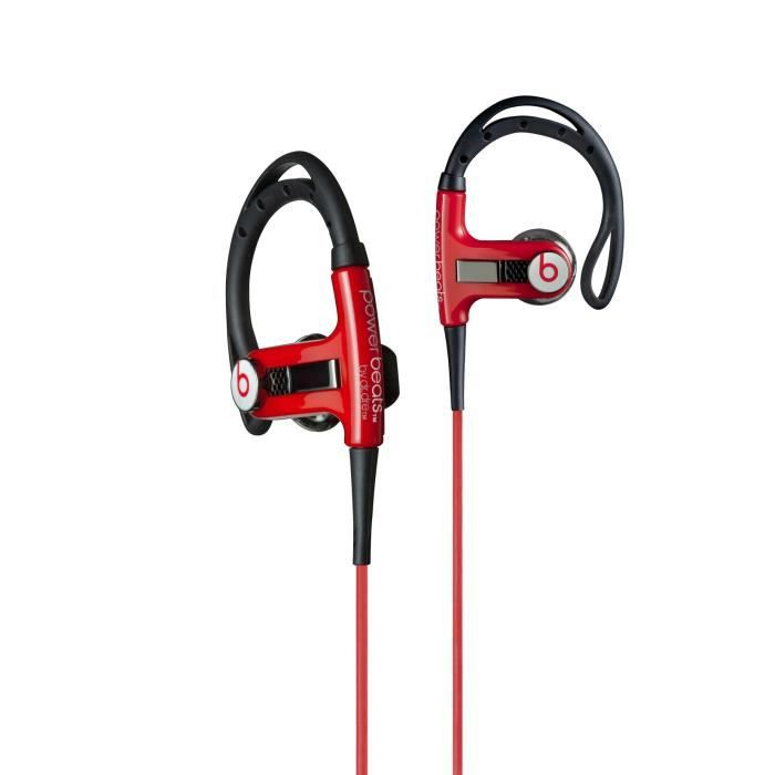beats powerbeats ecouteurs intra sport rouge casque couteur audio avis et prix pas cher. Black Bedroom Furniture Sets. Home Design Ideas