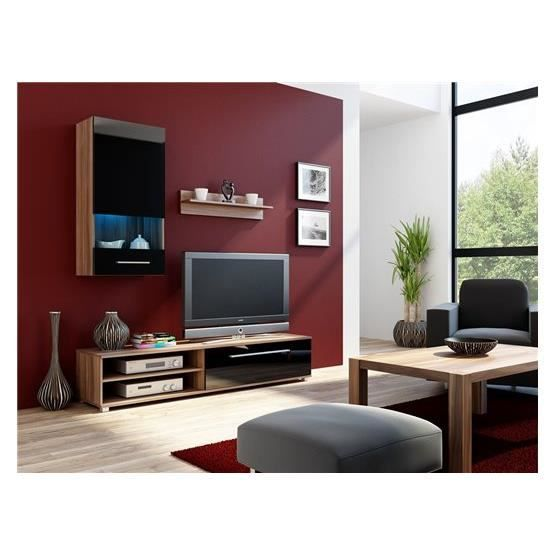 meuble tv design pyramide bordeaux et noir achat vente meuble tv meuble tv pyramide bo nr. Black Bedroom Furniture Sets. Home Design Ideas
