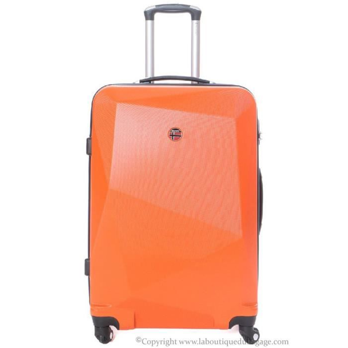 geographical norway valise rigide moyen s jour spot orange orange achat vente valise. Black Bedroom Furniture Sets. Home Design Ideas