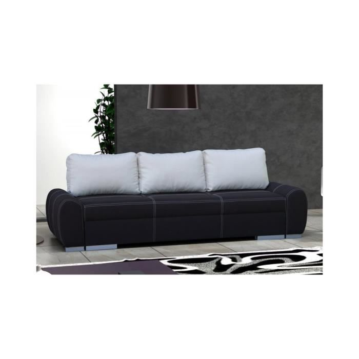 justhome rio canap en daim noir lxp 245x100 cm achat vente canap sofa divan cdiscount. Black Bedroom Furniture Sets. Home Design Ideas