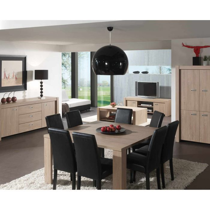 table salle manger carree 140x140. Black Bedroom Furniture Sets. Home Design Ideas