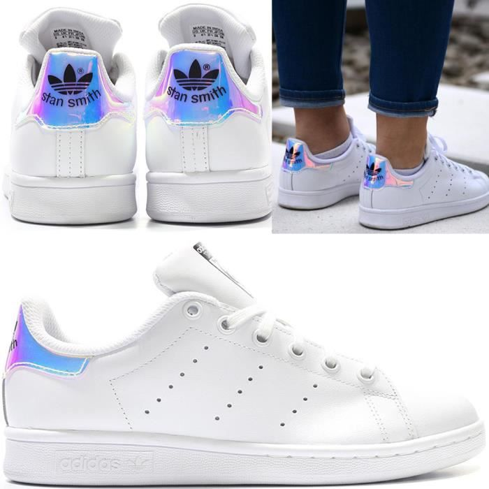 Adidas Originals Smith Aq6272 Achat Blanc Iridescent Hologram Stan rOqrgpwS