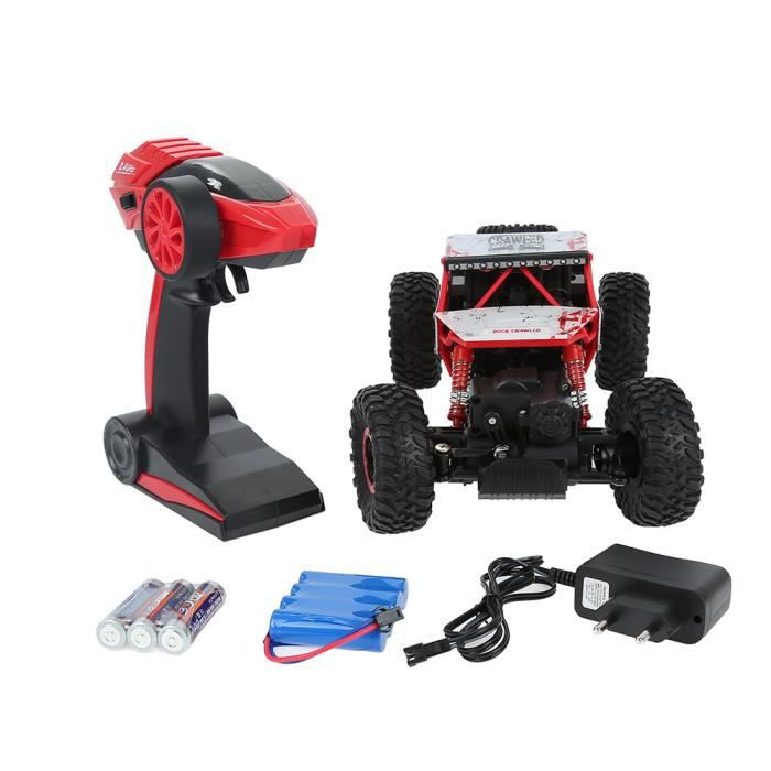 rouge 2 4 ghz voiture electrique rc t l commande 4wd d 39 escalade 4x4 double motors jouet cadeau. Black Bedroom Furniture Sets. Home Design Ideas