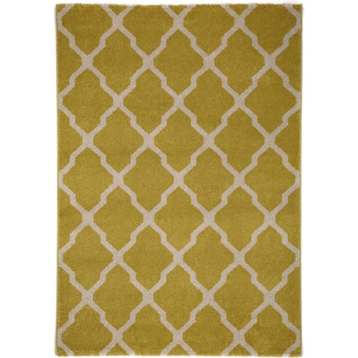 tapis poil ras lotus jaune 120x170 cm tapis poil court design moderne pour salon achat. Black Bedroom Furniture Sets. Home Design Ideas