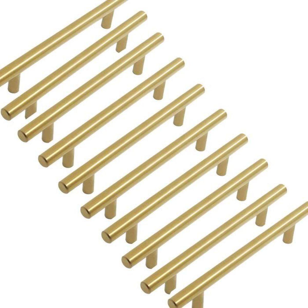 Poignee Porte Placard Cuisine poignee de meuble laiton - probrico barre de porte boutons