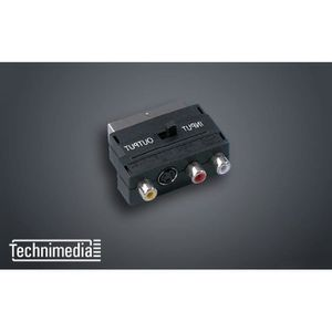 TECHNIMEDIA 9167TM49 Adaptateur Péritel M / 3 RCA F + S-VHS F IN / OUT