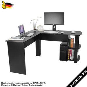 MEUBLE INFORMATIQUE L-forme Bureau d'ordinateur d'angle avec étagères