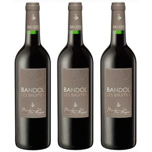 VIN ROUGE Lot de 3 Moulin de la Roque Rouge - AOP Bandol - 2