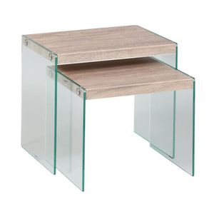 tables gigognes verre achat vente tables gigognes. Black Bedroom Furniture Sets. Home Design Ideas