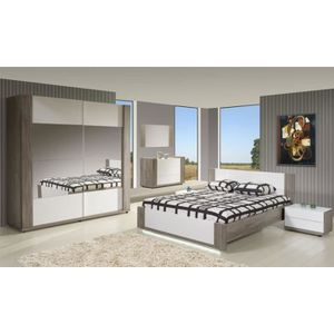 Chambre a coucher adulte blanche achat vente chambre a for Chambre adult complet