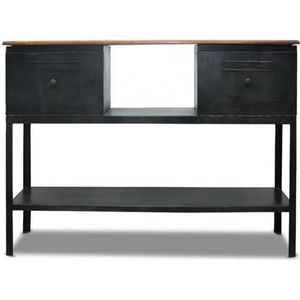 console metal noir achat vente console metal noir pas cher cdiscount. Black Bedroom Furniture Sets. Home Design Ideas