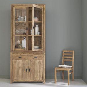 VITRINE - ARGENTIER Vaisselier en bois de teck recyclé 4 portes 2 tiro