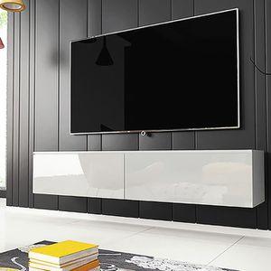 MEUBLE TV Meuble TV / Meuble de salon - KANE - 140 cm - blan