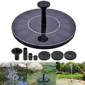 POMPE À EAU CAMPING 150L-h 1.4W pompe de fontaine d'énergie solaire po
