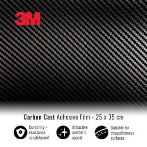 ACCESSOIRE CASQUE 3M Film Adhésif Wrapping pour Voitures, Effet Carb