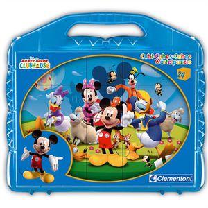 BOÎTE À FORME - GIGOGNE CLEMENTONI - Puzzle 12 Cubes - Mickey