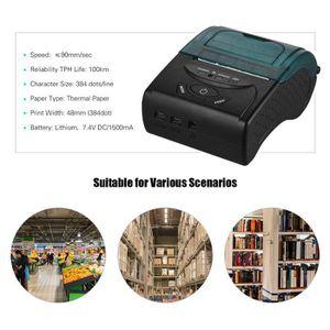 IMPRIMANTE Bluetooth Mini Imprimante Thermique Sans Fil Porta