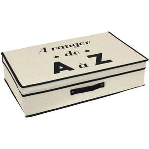 BOITE DE RANGEMENT Boite de rangement cartonnée avec couvercle 25L be