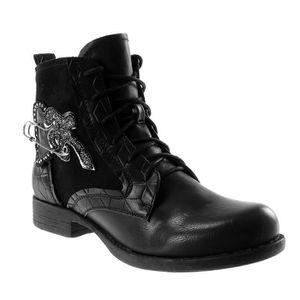 Bottine etoile boots rangers desert motard Botte femme Mode vY6y7Ibgf
