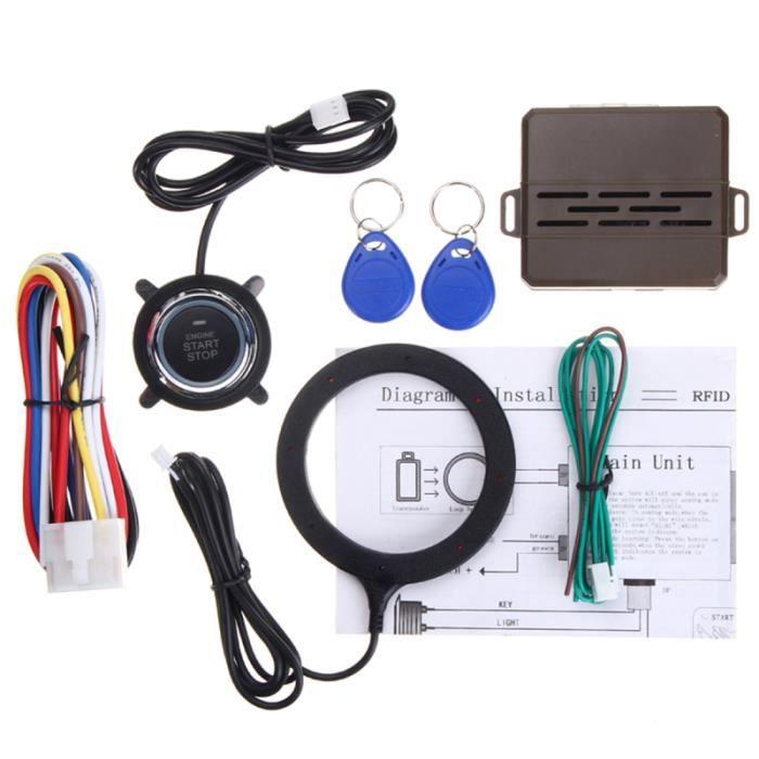 12 V 3mA RFID alarme télécommande entrée sans clé démarreur de voiture système de démarrage antivol BADGE RFID - CARTE RFID