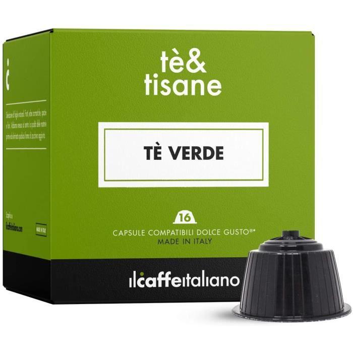 48 Capsules compatibles Nescafè Dolce Gusto - Thé vert earl grey - Il Caffè Italiano