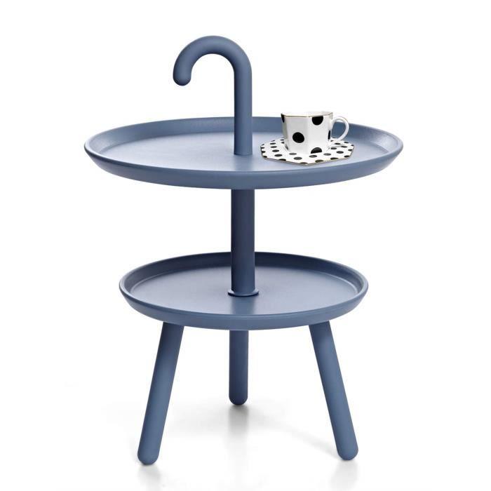 Suhu Table Basse Petite Ronde De Jardin Table Dappoint Plastique pour Exterieur De Balcon Salon Mini Tables Basses Enfant De Camp