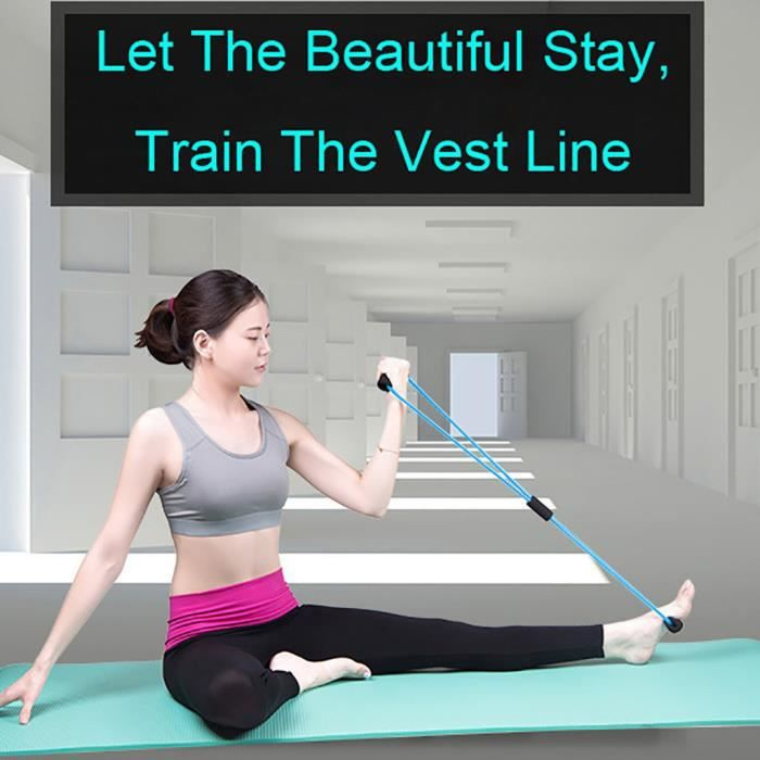 Stretch Band Rope Latex Rubber Arm Resistance Fitness Exercice Pilates Yoga miettelove 4440 yyllyy