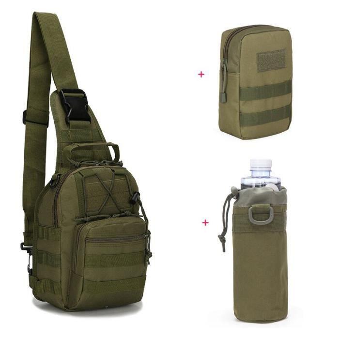 Sac à dos à bandoulière tactique militaire Molle pour plein air, sacoche de Camouflage pour Sport militaire, chasse, [2FE7E18]