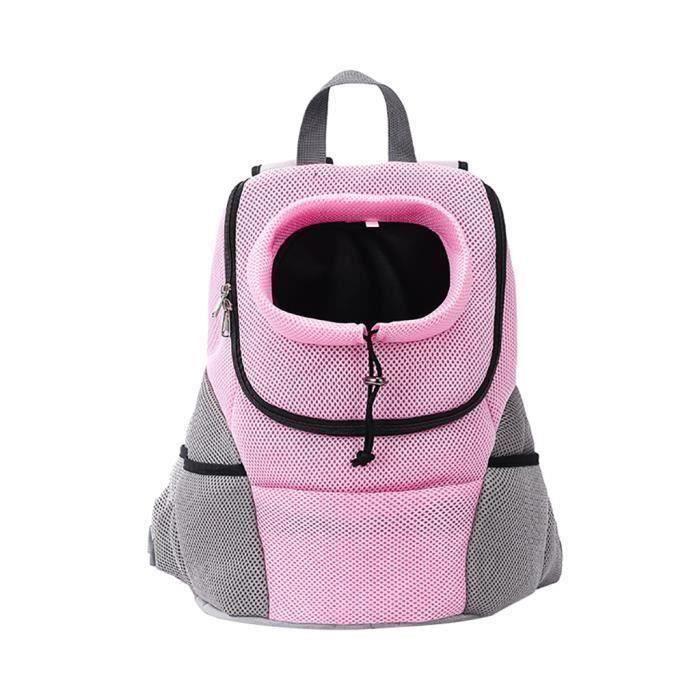 Sac à dos animal de compagnie Sac à dos épaule poitrine chat chien Sac de transport sûr et Confort @aigheg1916